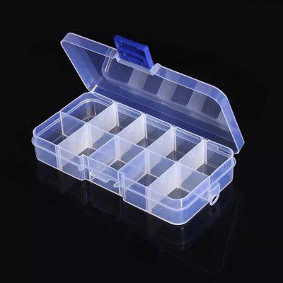 10-Value Clear Electronic Component Storage Classification Box