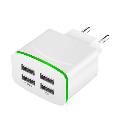 5V 4A Wall Charger Travel Adapter with 4 USB Ports for iPhone / Samsung Phones