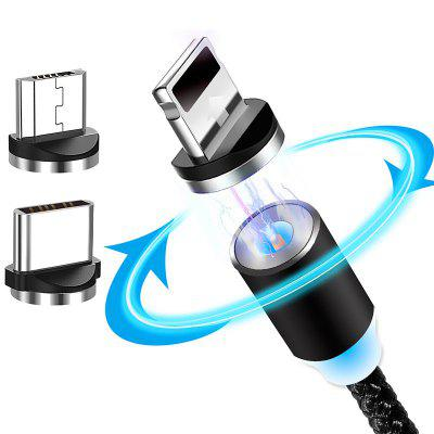 3 in 1 Magnetic Charging Cable with 3 Cord Heads