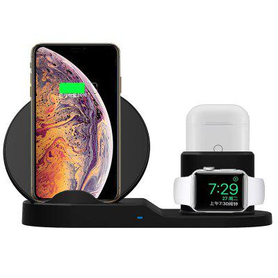 Supporto caricabatterie wireless 3 in 1 per iPhone / IWatch / AirPods