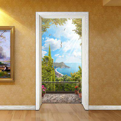 Door Sticker Wall Sticker Mural Home Decor Wooden Door Garden