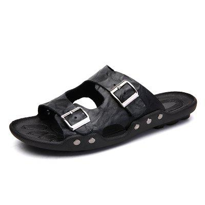 Summer Two-Tier Leather Sandals for Men