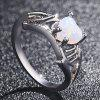 Heart Love Mom Silver White Sapphire Ring Mother'S Day Jewelry Gift - SILVER