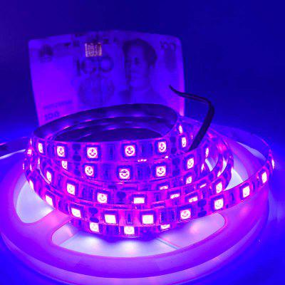 KEWEIBAO UV LED Strip Lights 5050 60LEDS DC 12V 5M / naviják