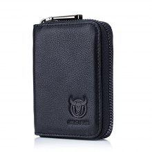 95e6f00f8ac BULLCAPTAIN Men S Leather Pocket Business Card Bag with 11 Slots