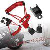 Anti-Theft Disc Brakes Lock with Steel Wire for Xiaomi M365 Electric Scooter - RED