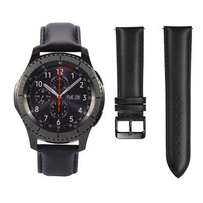 Genuine Leather Watch WristBand Strap for Samsung Gear S3 Classic Frontier