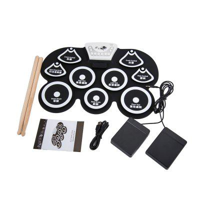 Portable Electronic Roll Up Drum Pad Kit Silicon Foldable