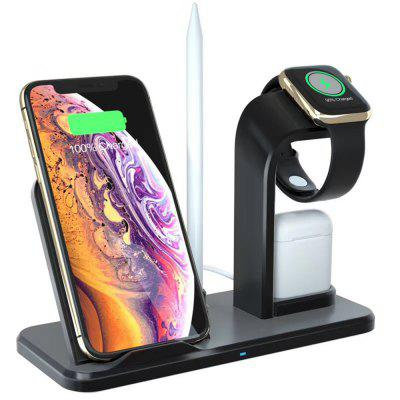 Supporto per caricabatterie wireless veloce Qi per iPhone X / Airpods / iWatch Series 1 2 3 4
