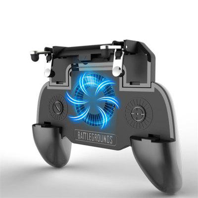 Mobile Game Cooling Fan with 2000mAh Battery Trigger Fire Button L1R1 Controller