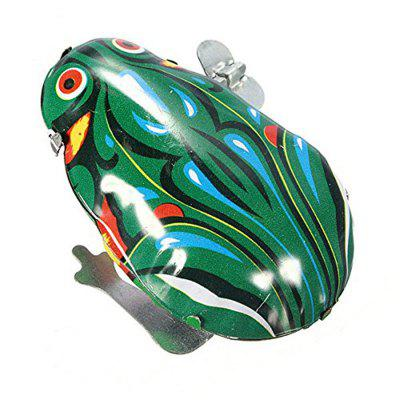 Metal Wind-up Jumping Frog Clockwork Toy