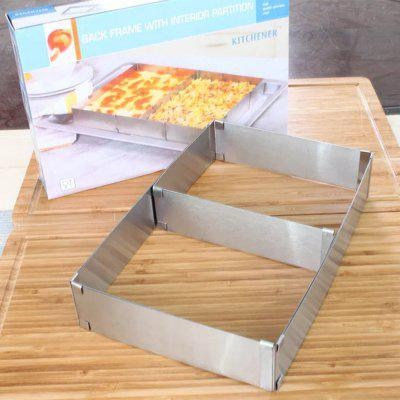 Rectangular Stainless Steel Adjustable Telescopic Mousse Ring Cake Mould