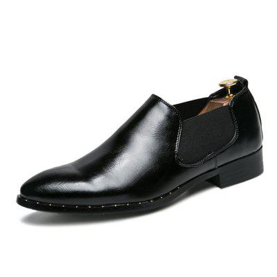 British Pointed Fashion Men Leather Shoes