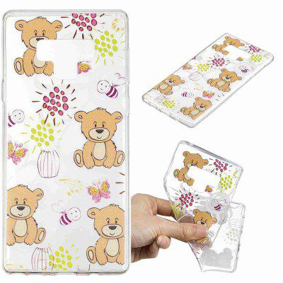 Brown Bear Pattern Soft TPU Case for Samsung Note 9