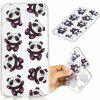 Coque en TPU souple Hug Bear Pattern pour Samsung J4 2018 (EU) - TRANSPARENT