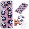 Hug Bear Pattern Soft TPU Case for Samsung S8 - TRANSPARENT