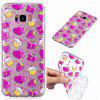 Coque en TPU souple motif Strawberry Cake pour Samsung S8 Plus - TRANSPARENT