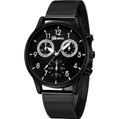 GENEVA Fashion Stainless Steel Quartz Watch For Men