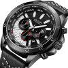 MEGIR 2103 Multi-Function Large Dial Sport Quartz Watch for Men - BLACK