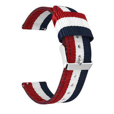 Nylon canvas horloge polsbandje voor Pebble Time-armband