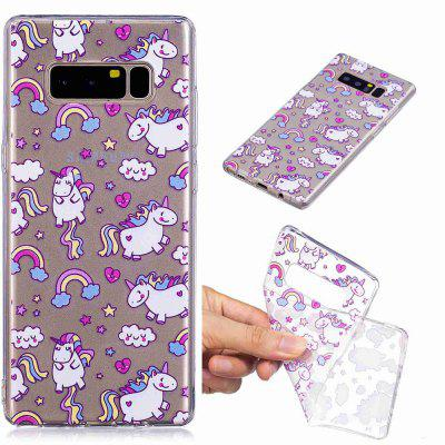 Lovely Horse Pattern Soft TPU Case For SAMSUNG Note 8