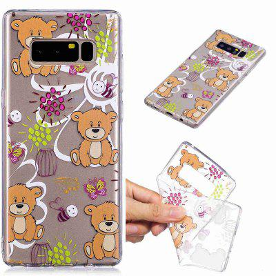 Brown Bear Pattern Soft TPU Case for Samsung Note 8