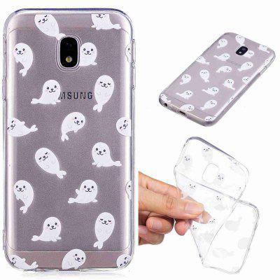 Sea Lions Pattern Soft TPU Case For SAMSUNG J330