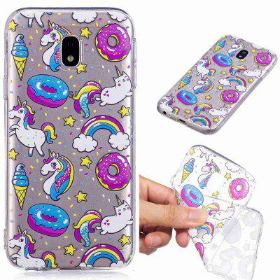 Dessert Horse Pattern Soft TPU Case for Samsung J730