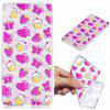 Strawberry Cake Pattern Soft TPU Case for Sony Xperia E5 - TRANSPARENT