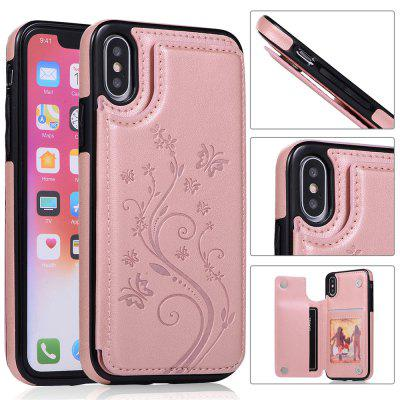 Luxury PU Leather Floral Wallet Smartphone Case for iPhone XS/X