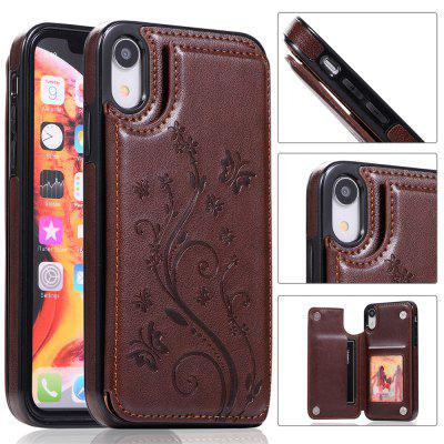 Luxury PU Leather Floral Wallet Smartphone Case for iPhone XR