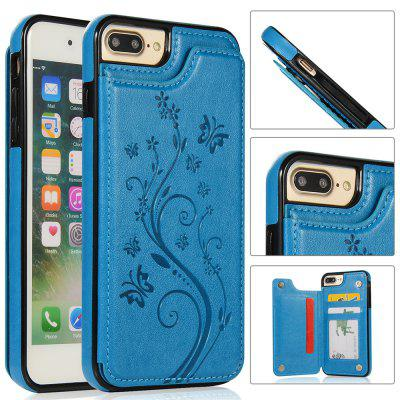 Luxury PU Leather Floral Wallet Smartphone Case for iPhone 8 Plus/7 Plus
