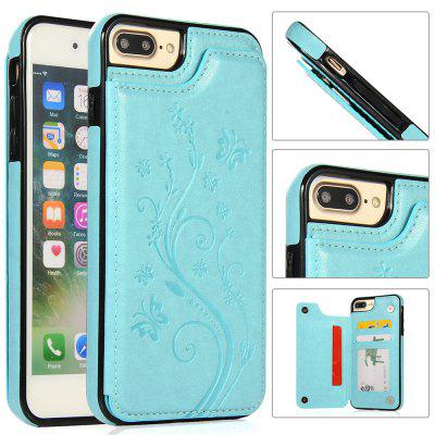 Luxury PU Leather Floral Wallet Smartphone Case for iPhone 8/7