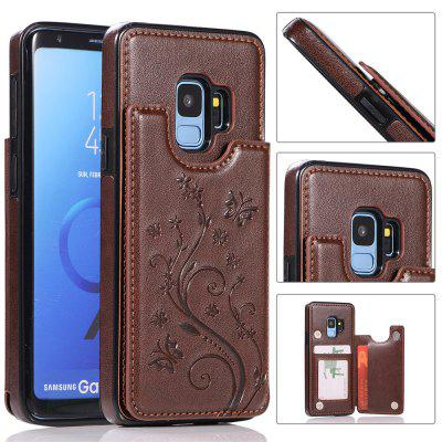 Luxury PU Leather Floral Wallet Smartphone Case for Samsung Galaxy S9