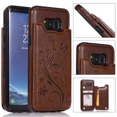 Luxury PU Leather Floral Wallet Smartphone Case for Samsung Galaxy S8 Plus