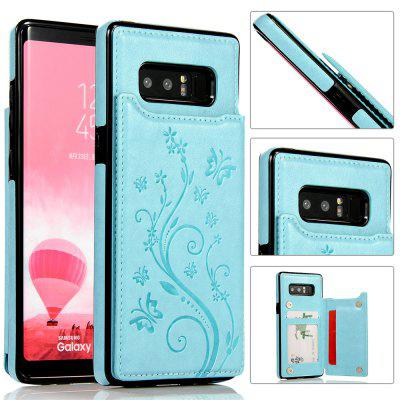 Luxury PU Leather Floral Wallet Smartphone Case for Samsung Galaxy Note 8