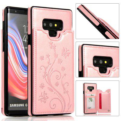 Luxury PU Leather Floral Wallet Smartphone Case for Samsung Galaxy Note 9