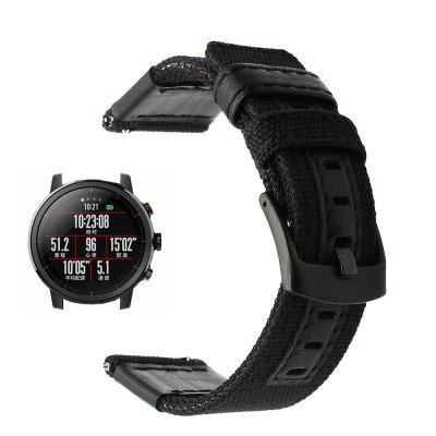 Nylon Leather Watch Wristband Strap for AMAZFIT Stratos 2 / 2S