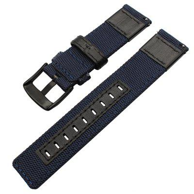 Nylon Woven Leather Watch Wristband Strap for Pebble Time / Pebble Classic