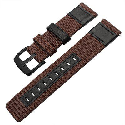 Nylon Woven Leather Watch Wristband Strap for Samsung Gesa S2 Classic SM-R732