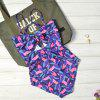 Bikini Print Halter Top Swimsuit - PURPLE