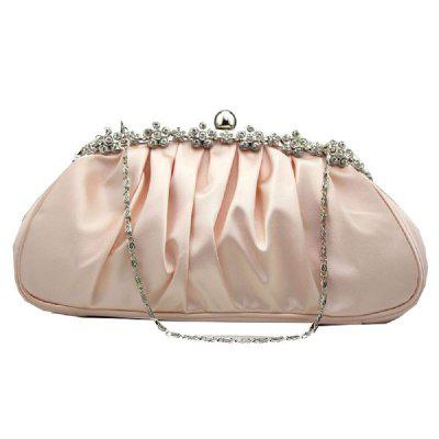 New Silk Pleated Evening Dress Bag for Ladies