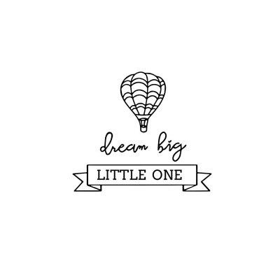 Creative Little One Big Dream Sticker Living Room Wall Decoration Wall Sticker