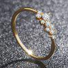 Simple Diamond Ring in 14K Pure Gold Zirconium Oxide Simple Women'S Ring - GOLD