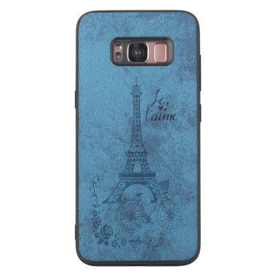 PU Denim Texture Tower Embossing Pattern TPU Case for Samsung Galaxy S8