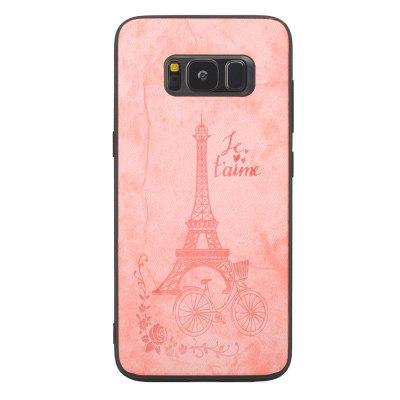 PU Denim Texture Tower Embossing Pattern TPU Case for Samsung Galaxy S8 Plus