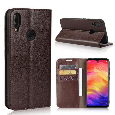 Genuine Leather Wallet Flip Case for Xiaomi Redmi Note 7 / Note 7 Pro