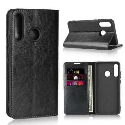 Genuine Leather Wallet Flip Case for Huawei P30 Lite