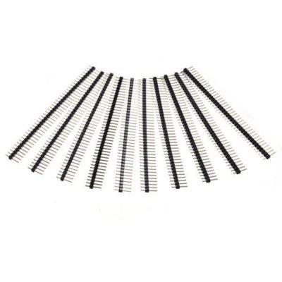 40 Pin 2.54mm Single Row Male Pin Header Strip for Arduino 10pcs
