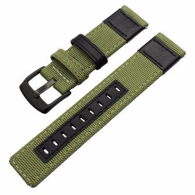 Nylon Woven Leather Watch Wristband Strap for Samsung Gesa S3 Frontier/Classic